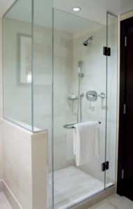 glass shower doors are a classy alternative to regular shower curtains and rods the glass shower enclosure protects the surrounding bathroom walls